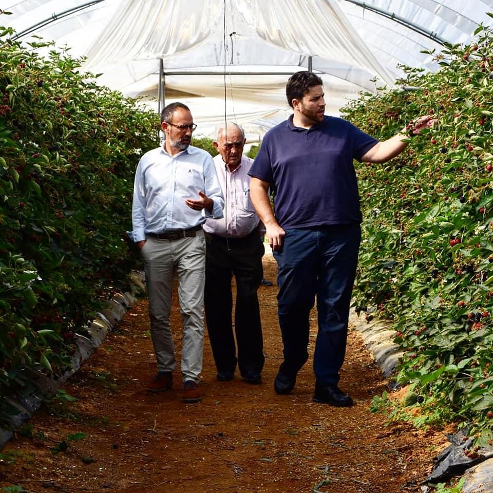Visita de Xanty Elías a nuestros cultivos