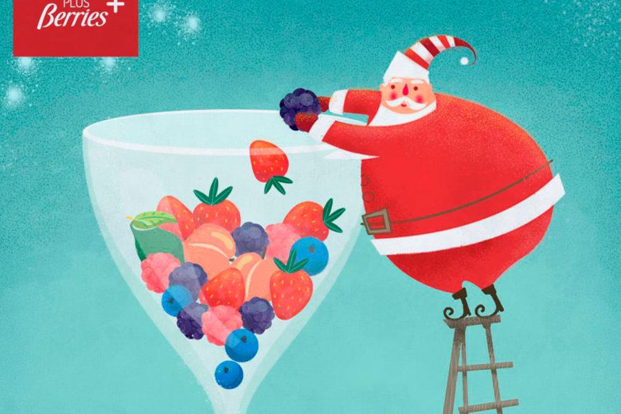 ¡Berry Christmas y feliz Año Nuevo saludable!